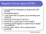 negative norms about atods