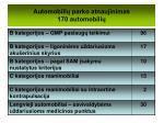 automobili parko atnaujinimas 170 automobili