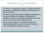 dominio de un algoritmo