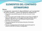 elementos del contrato estimatorio