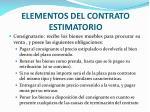 elementos del contrato estimatorio1