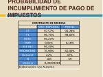 probabilidad de incumplimiento de pago de impuestos1