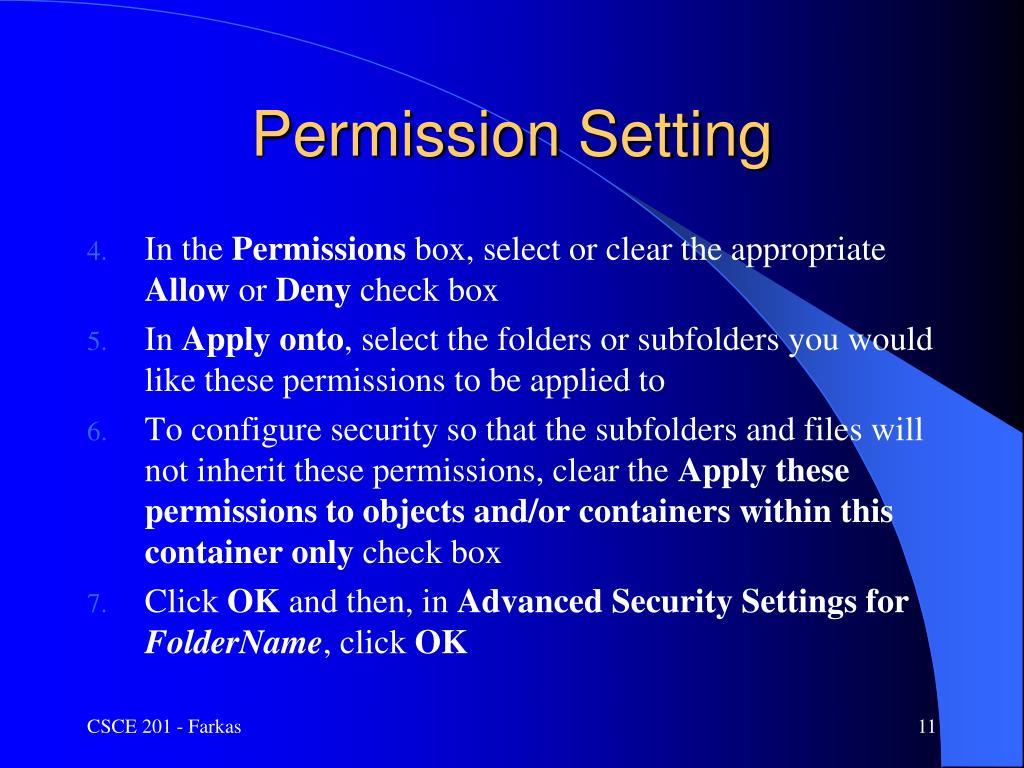 Permission Setting