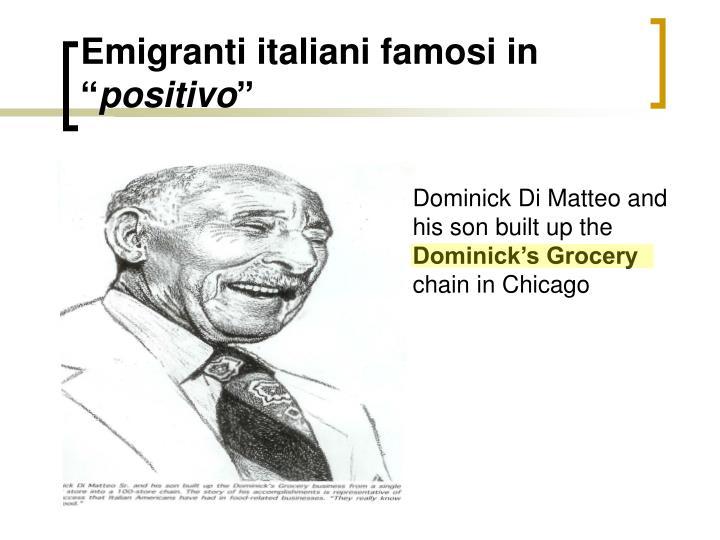 """Emigranti italiani famosi in """""""