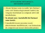 attivazione metabolica detossificazione