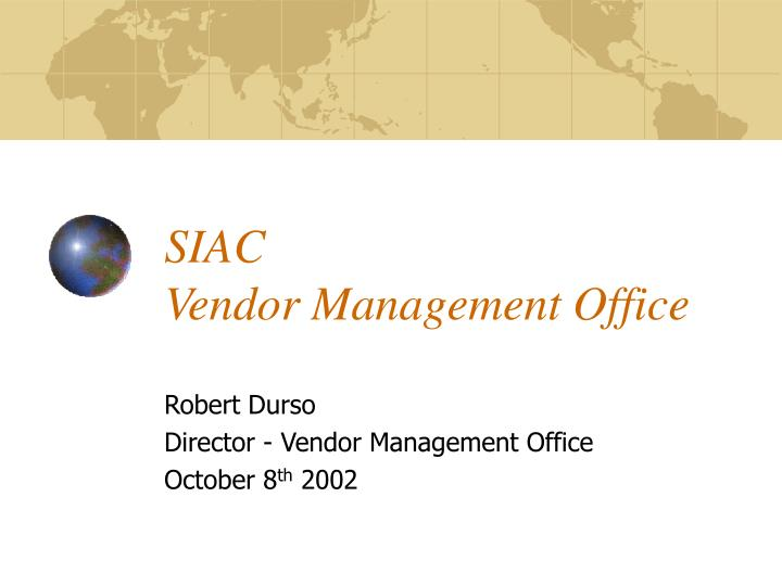 siac vendor management office n.