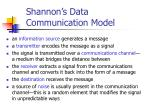 shannon s data communication model1
