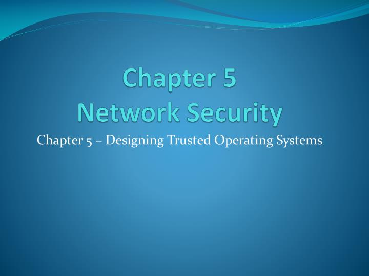 chapter 5 network security n.