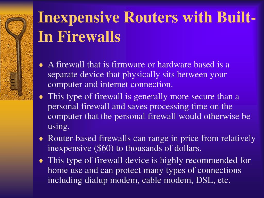 Inexpensive Routers with Built-In Firewalls