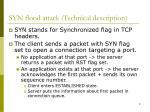 syn flood attack technical description