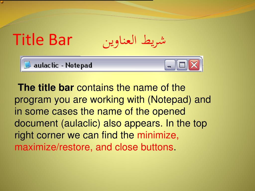 Title Bar