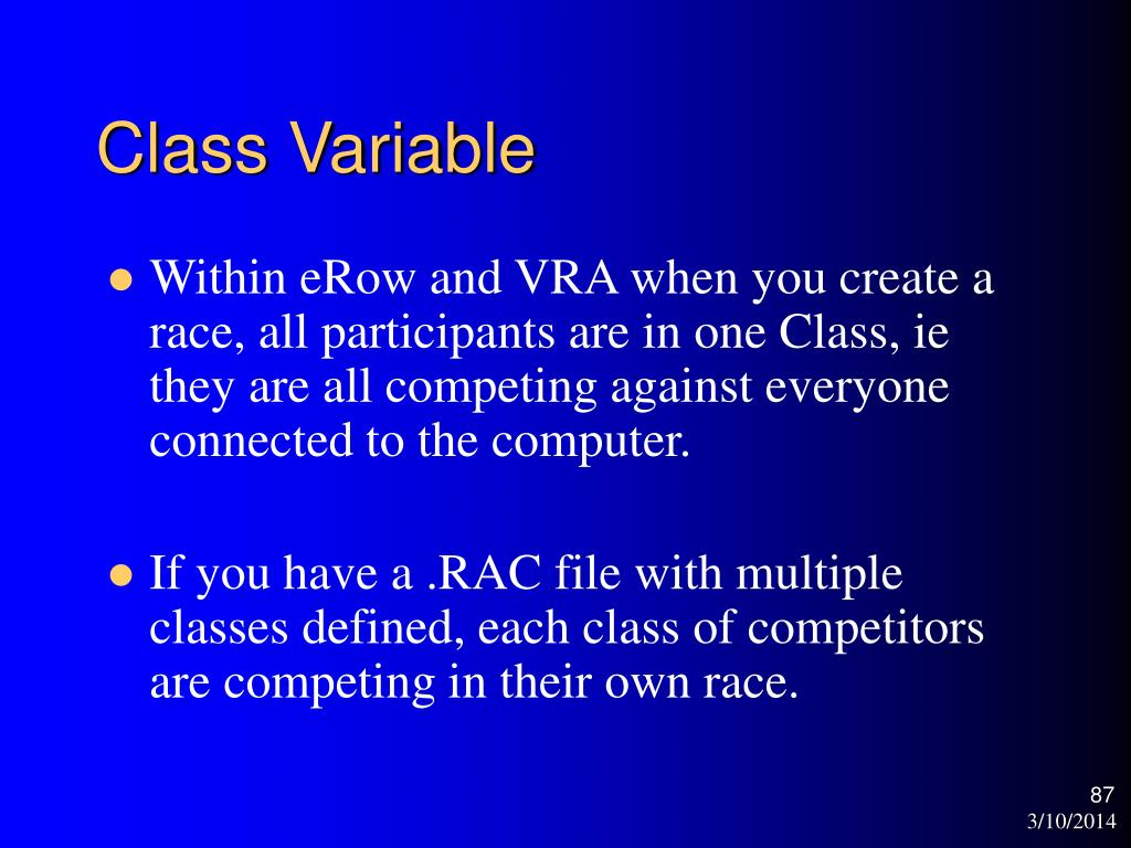Class Variable
