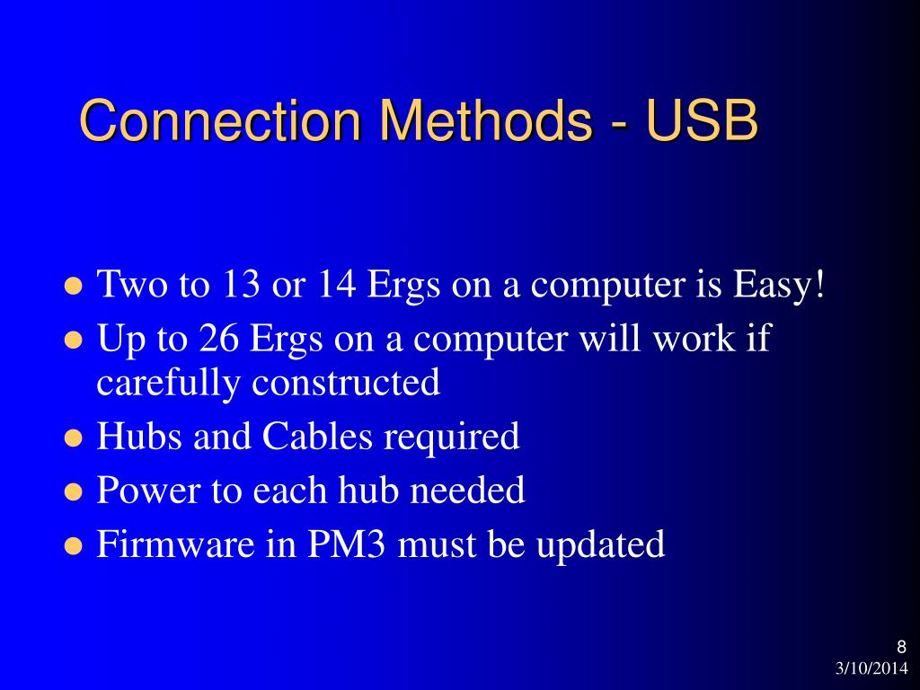 Connection Methods - USB
