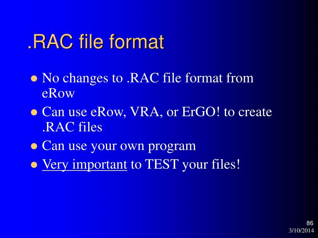 .RAC file format