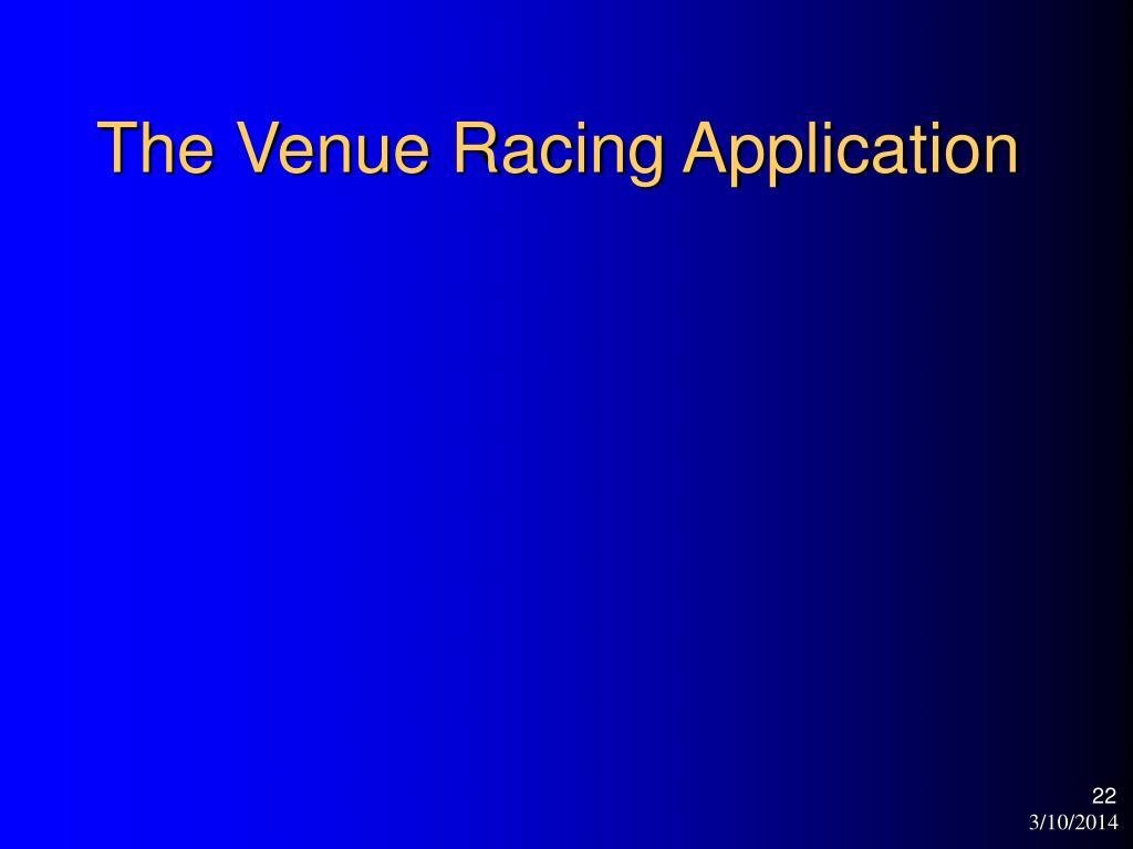 The Venue Racing Application