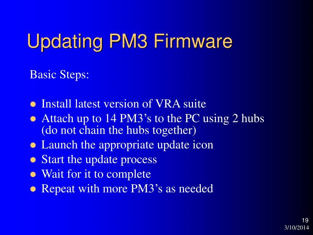 Updating PM3 Firmware