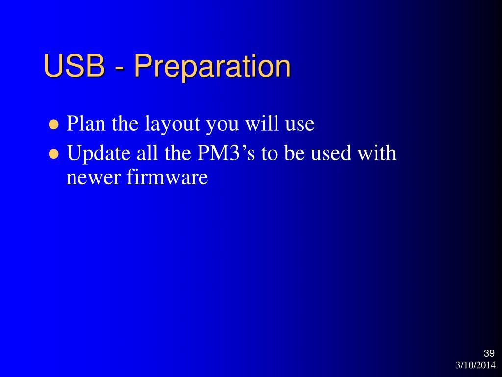 USB - Preparation