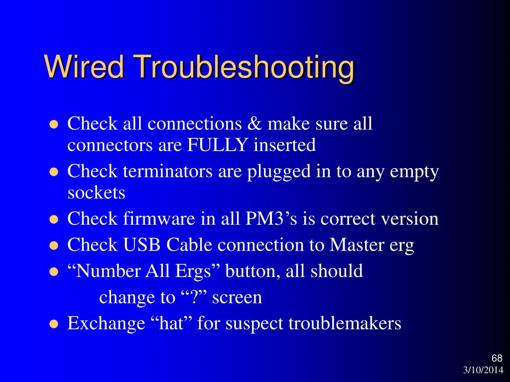 Wired Troubleshooting