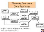 planning processes core processes