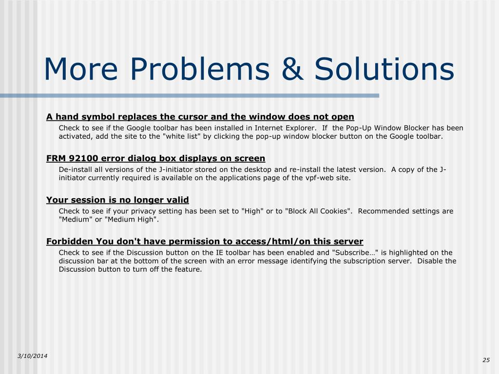 More Problems & Solutions