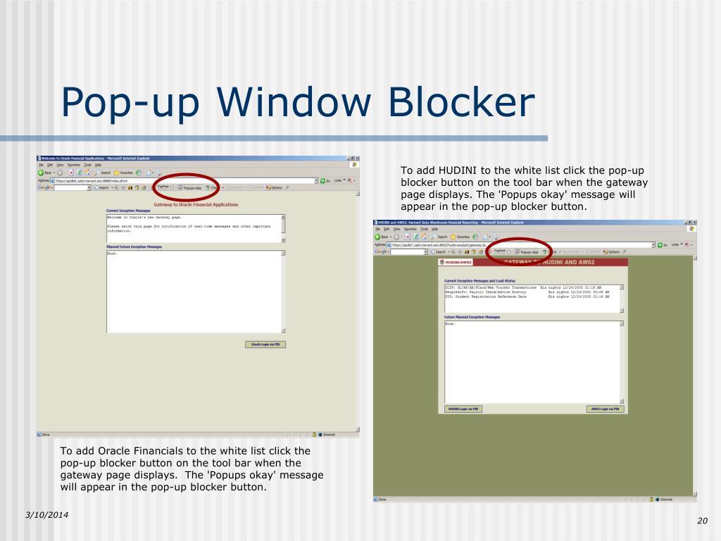 Pop-up Window Blocker