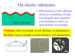 on elastic substrates