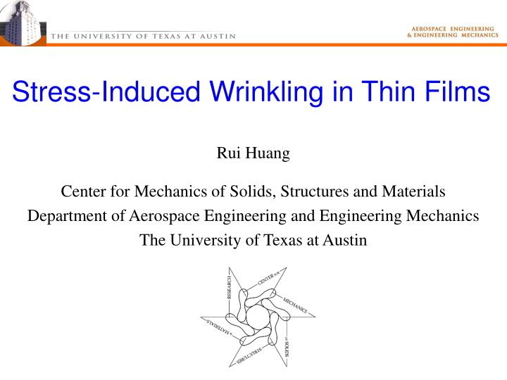 stress induced wrinkling in thin films n.