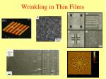 wrinkling in thin films