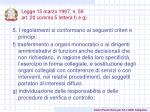 legge 15 marzo 1997 n 59 art 20 comma 5 lettera f e g