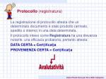 protocollo registratura