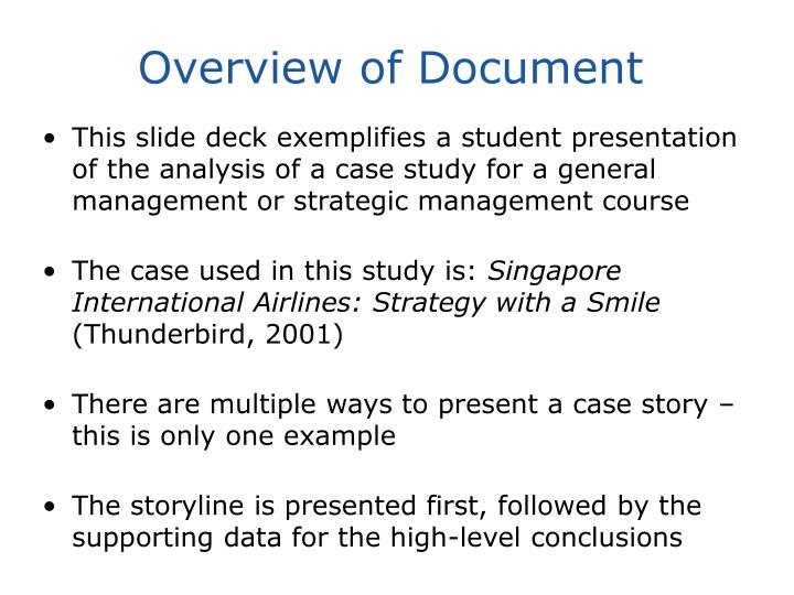 Overview of document