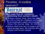 penalties a credible deterrent