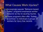 what causes work injuries
