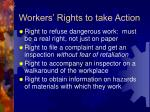 workers rights to take action