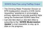 sdwis data flow using fedrep output3