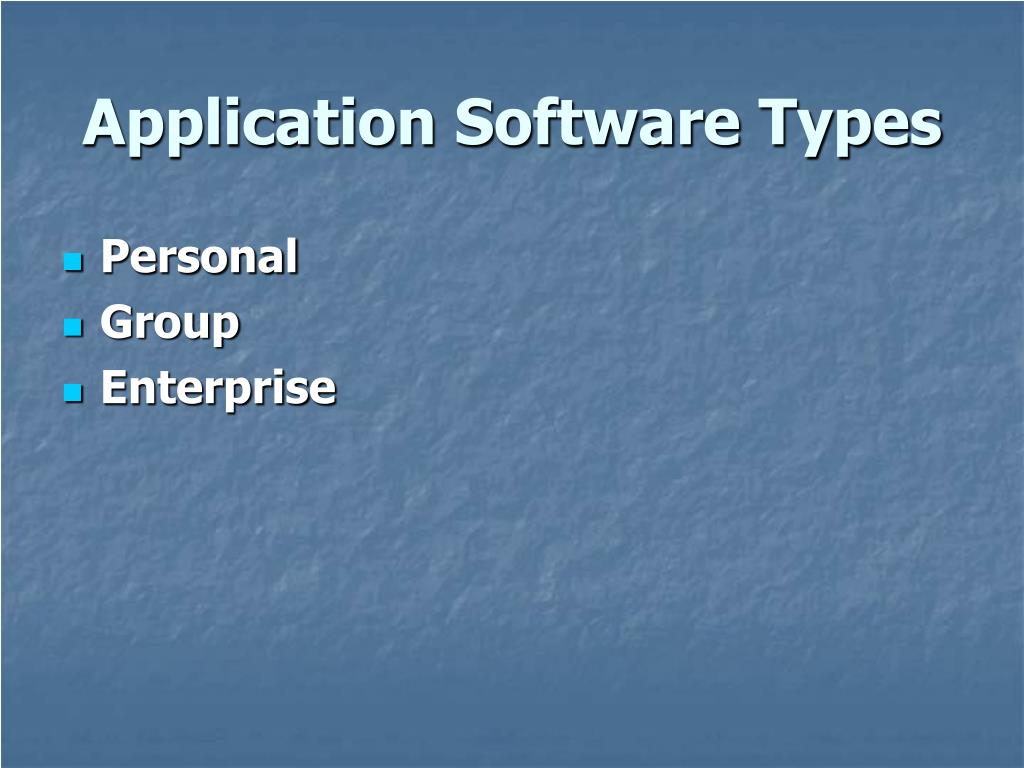 Application Software Types