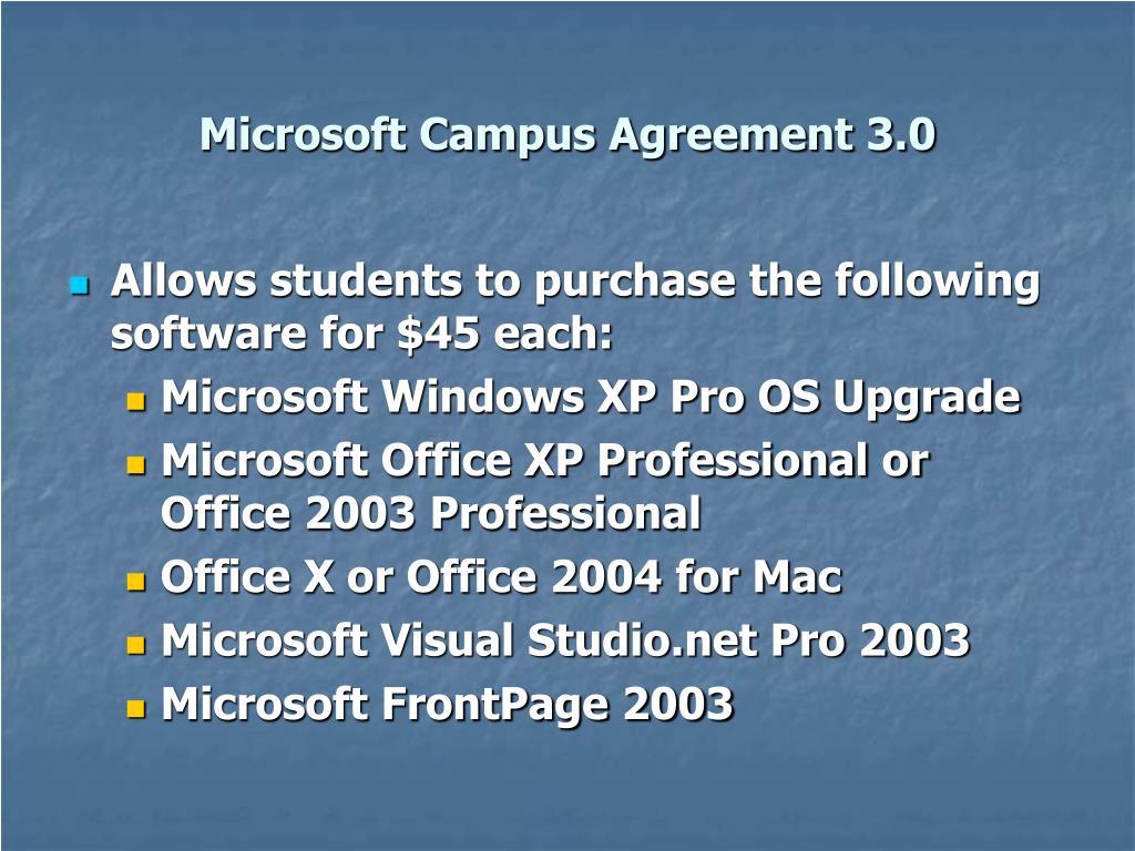 Microsoft Campus Agreement 3.0