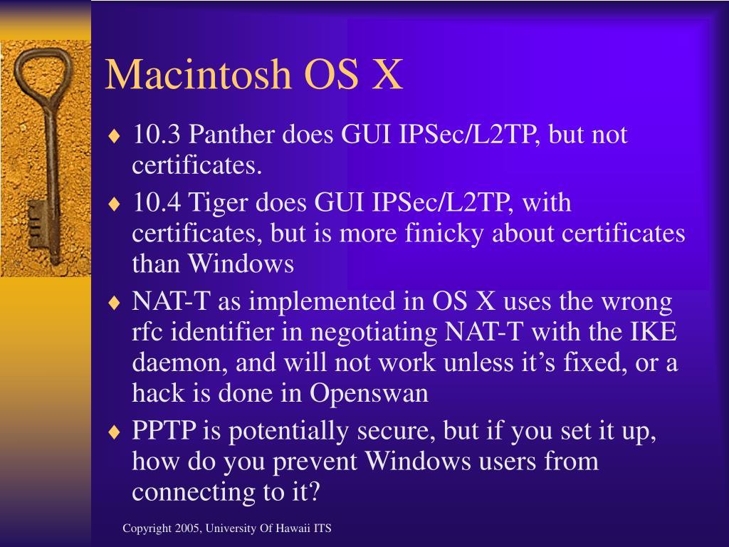 Macintosh OS X