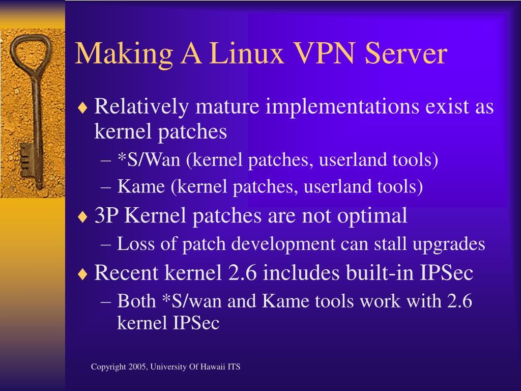 Making A Linux VPN Server
