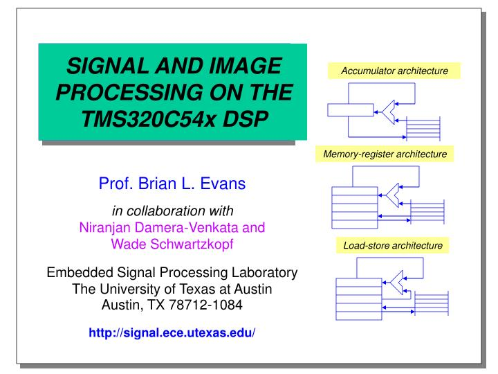 signal and image processing on the tms320c54x dsp n.