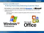 lenovo and microsoft a strong partnership delivering customer value