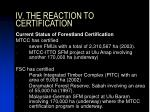iv the reaction to certification1