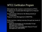 mtcc certification program