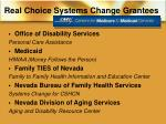 real choice systems change grantees