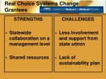 real choice systems change grantees1