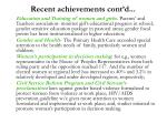 recent achievements cont d