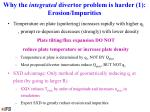 why the integrated divertor problem is harder 1 erosion impurities