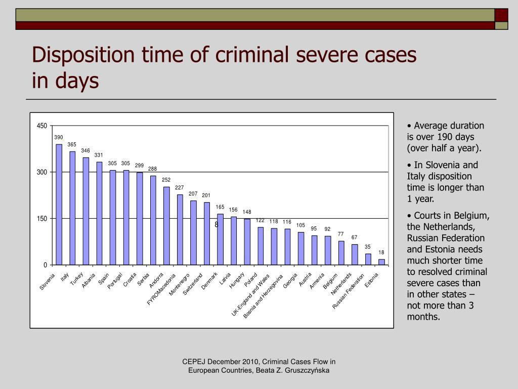Disposition time of criminal severe cases