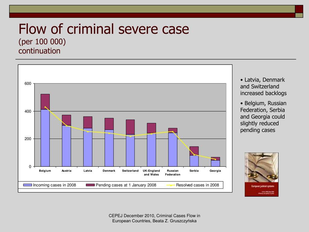 Flow of criminal severe case