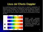 usos del efecto doppler